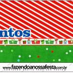 Mentos Fundo Natal Vermelho e Verde