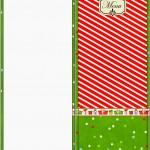 Menu Fundo Natal Vermelho e Verde