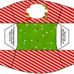 Mini Cachorro-quente Fundo Natal Vermelho e Verde