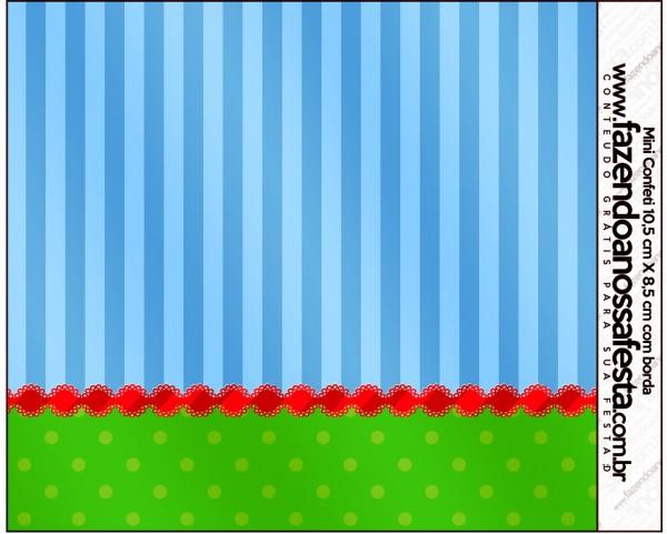 Mini Confeti Fundo Azul e Verde