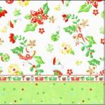Mini Confeti Fundo Natal Verde e Branco