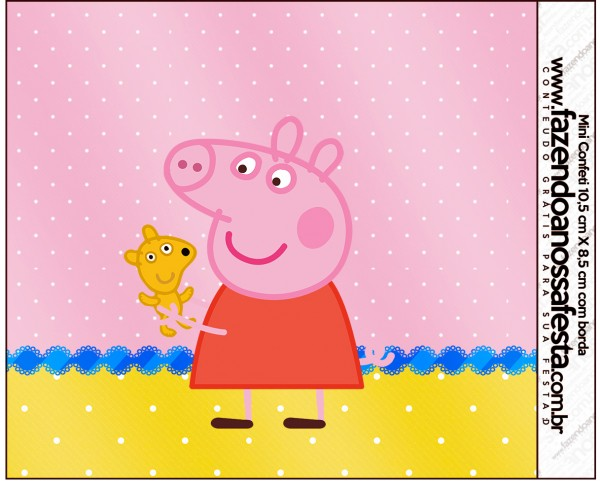 Mini Confeti Peppa Pig e Teddy