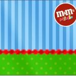 Mini M&M Fundo Azul e Verde