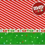 Mini M&M Fundo Natal Vermelho e Verde
