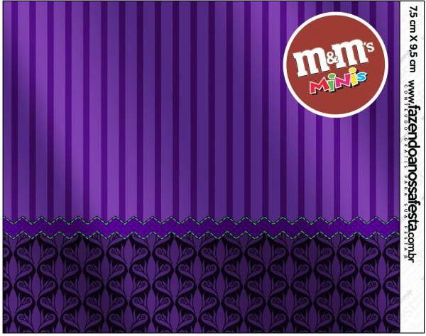 Mini M&M Fundo Roxo Fundo Roxo