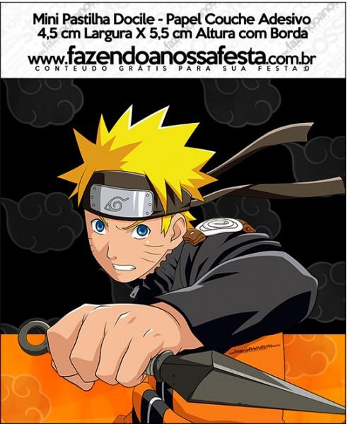 Mini Pastilha Docile Naruto