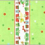 Mini Talento Fundo Natal Verde e Branco
