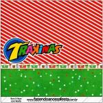 Mini Trakinas Fundo Natal Vermelho e Verde