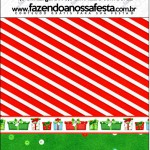 Mini pastilha Docile Fundo Natal Vermelho e Verde
