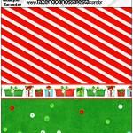 Molde Quadrado Fundo Natal Vermelho e Verde