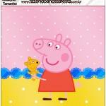 Molde Quadrado Peppa Pig e Teddy