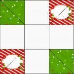 Convite Caixa Fundo Natal Vermelho e Verde