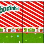 Rótulo Toddynho Caixa China in Box Fundo Natal Vermelho e Azul