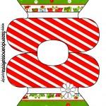 Convite Vestido Fundo Natal Vermelho e Verde