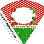 Cone Guloseimas Fundo Natal Vermelho e Azul