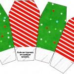 Caixa China in Box Fundo Natal Vermelho e Azul