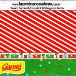 Batom Garoto Natal Fundo Vermelho e Verde