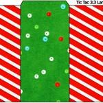 Rótulo Tic Tac Fundo Natal Vermelho e Verde