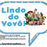 Plaquinhas Divertidas Toy Story