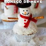 Passo a Passo Boneco de Neve com Cupcake e Marshmallow