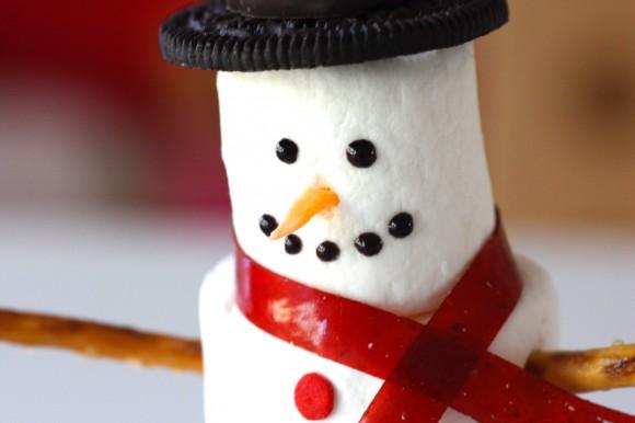 Passo a Passo Boneco de Neve com Cupcake e Marshmallow 3