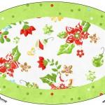 Placa Elipse Fundo Natal Verde e Branco