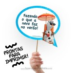 Plaquinhas Divertidas Frozen – Frases do Filme!