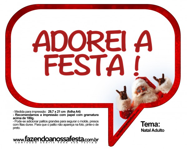 Plaquinhas Divertidas Natal Adulto