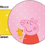 Porta Guardanapos Peppa Pig e Teddy