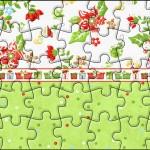 Quebra-cabeça Fundo Natal Verde e Branco