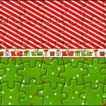 Quebra-cabeça Fundo Natal Vermelho e Verde