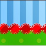 Rótulo Água Fundo Azul e Verde