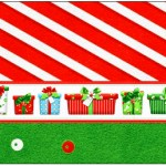 Rótulo Água Fundo Natal Vermelho e Verde