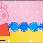 Rótulo Água Peppa Pig e Teddy