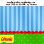 Rótulo Batom Garoto Fundo Azul e Verde