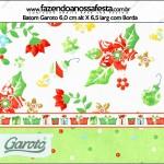 Rótulo Batom Garoto Fundo Natal Verde e Branco