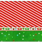 Rótulo Champagne,Vinho e Espumante Fundo Natal Vermelho e Verde