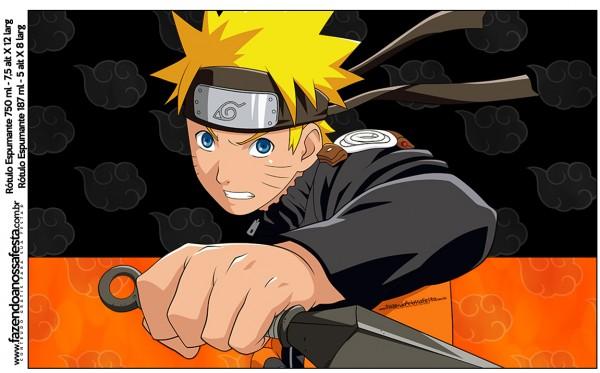 Rótulo Champgne,Vinho e Espumante Naruto