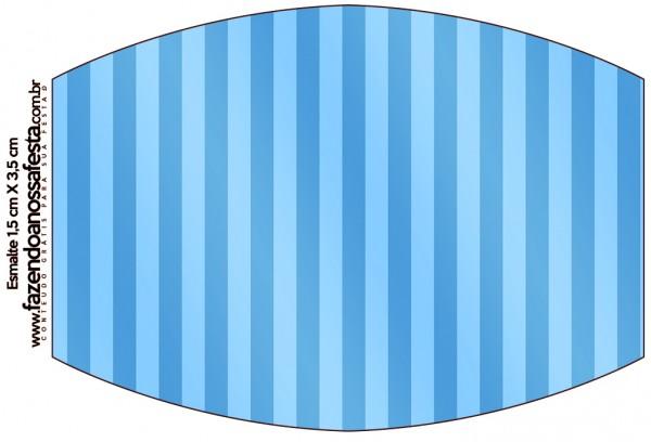 Rótulo Esmalte Fundo Azul e Verde