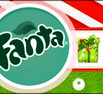 Rótulo Fanta Fundo Natal Vermelho e Verde 3