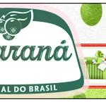 Rótulo Guaraná Fundo Natal Verde e Branco
