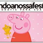 Rótulo Lápis Peppa Pig e Teddy