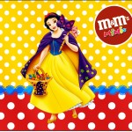 Rótulo Mini M&M Branca de Neve