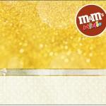 Rótulo Mini M&M Fundo Ano Novo