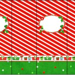 Rótulo Nescauzinho Fundo Natal Vermelho e Verde