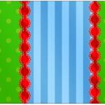 Rótulo Pé de Moleque Yoki Fundo Azul e Verde