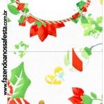 Rótulo Pirulito Fundo Natal Verde e Branco