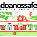 Rótulo Pote Papinha Fundo Natal Verde e Branco