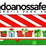 Rótulo Pote Papinha Fundo Natal Vermelho e Verde