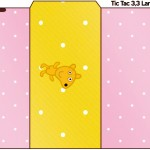 Rótulo Tic Tac Peppa Pig e Teddy